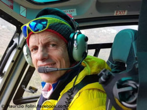 Maurizio Folini in the cockpit