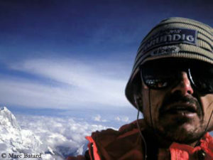 Marc on the summit of Everest