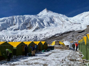 Manaslu Base Camp for climbers from Bahrain