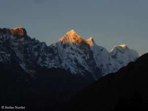 Sunrise at the Gokyo Valley