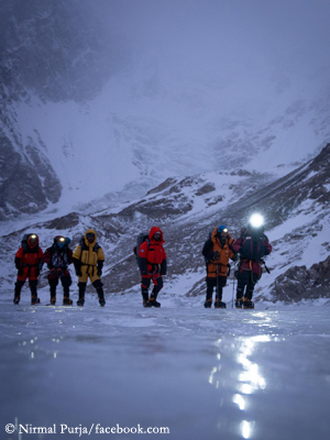 Nirmal Purja und seine Teamgefährten