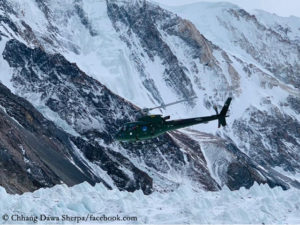 Rescue helicopter at K2