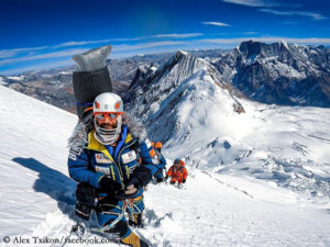 Alex Txikon on ascent on Manaslu