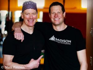 Pattison with Everest expedition leader Madison