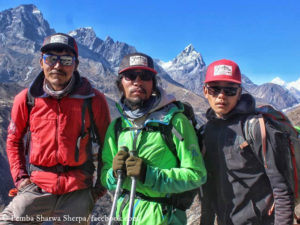 Pemba Sharwa Sherpa, Urken Lendu Sherpa, Lakpa Gyalje Sherpa