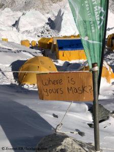 Masks obligatory at Everest Base Camp