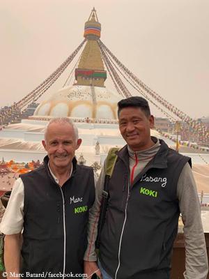 Marc Batard and Pasang Nuru Sherpa