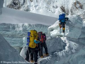 Mountaineers on Mount Everest
