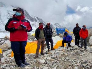Everest ER instruiert Expeditionsleiter
