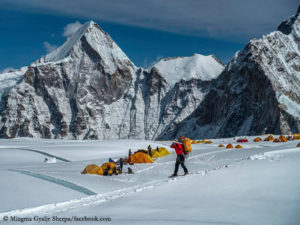 In the Western Qwm on Mount Everest