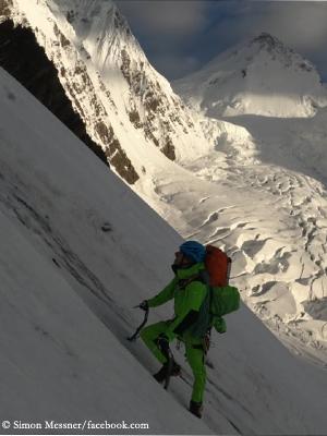 Simon Messner im Aufstieg am Praqpa Ri